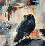 Acrylic Birds and Crows